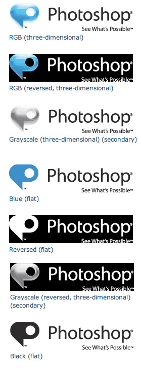 Photoshop visual logo